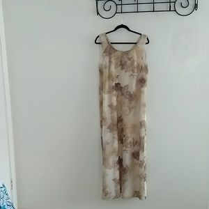 Pretty neutral colors Carole Little dress, sz 14